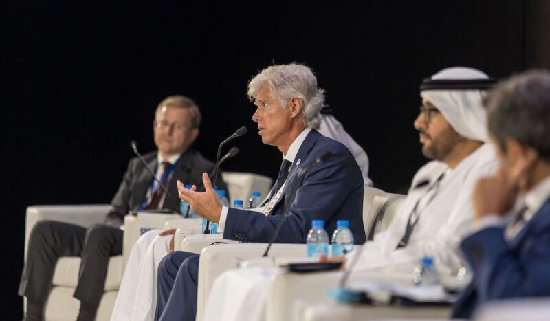 Arnaud Breuillac, the president of exploration and production at TotalEnergies, speaks about the need to create new energy business lines at SPE's Annual Technical Conference and Exhibition on 21 September in Dubai.