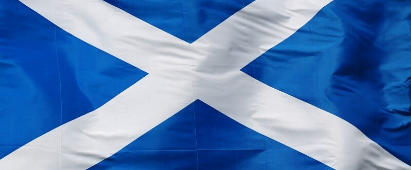 Flag of Scotland - isolated on white