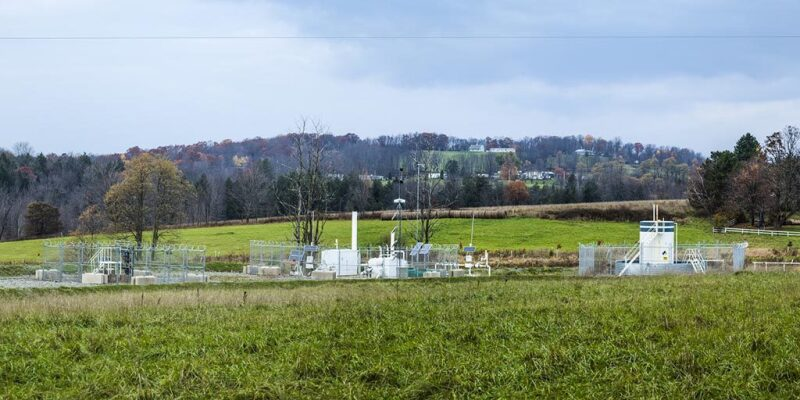 Gas well location in the Marcellus Shale