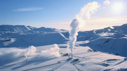 Iceland, South Central Iceland, Nesjavellir geothermal power plant