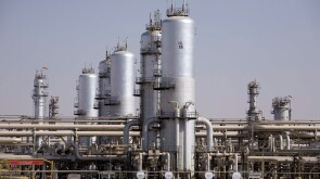 The Abqaiq oil-processing facility, located 60 km southwest of Dhahran in Saudi Arabia's Eastern Province, is the world's biggest oil-processing and crude-stabilization plant. Source: Saudi Aramco.