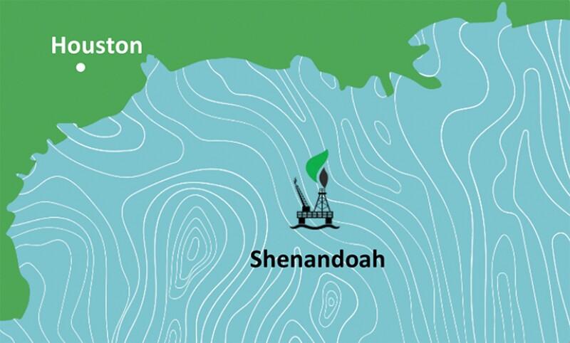illustration of shenandoah platform location
