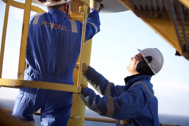 Petrofac workers inspecting equipment
