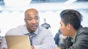 Mentor advising student