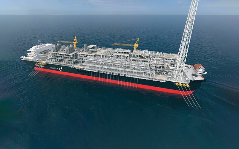 illustration showing Equinor's floating production, storage, and offloading vessel