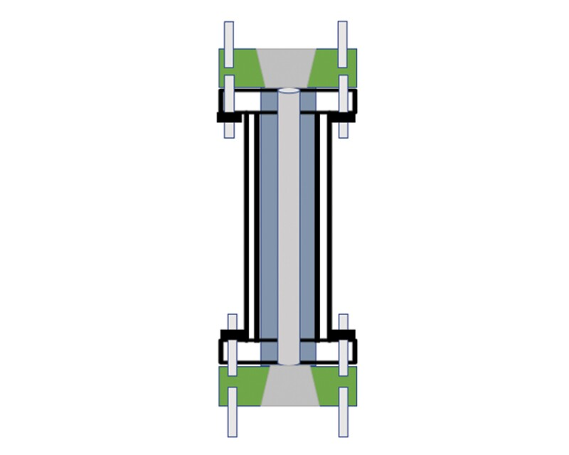Double-sided flange riser