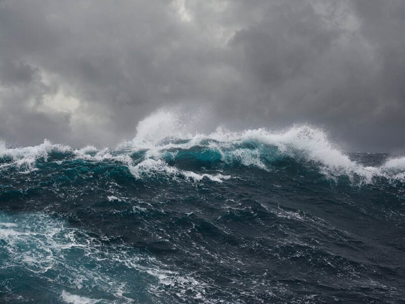 stormy weather on the ocean