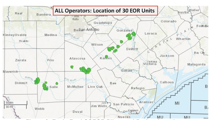 Eagle Ford CGEOR Pilots and Project Locations