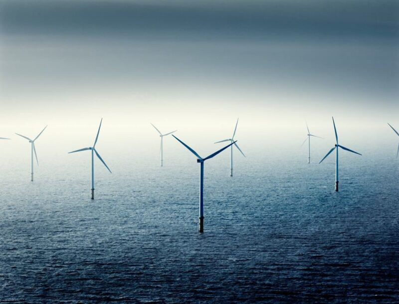 Illustration of an offshore wind farm