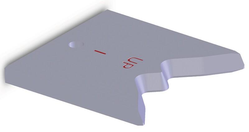 Developed CT shear blade.