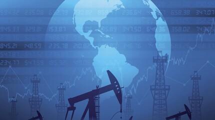Oil derricks and financial data