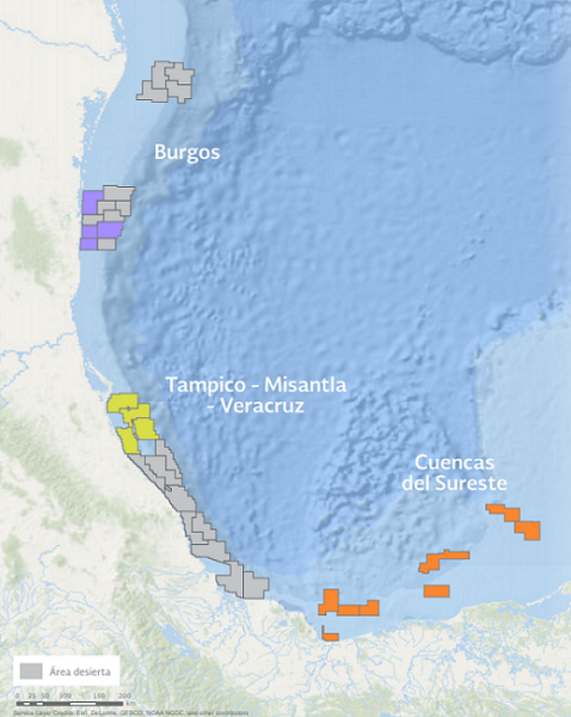 In 2018, Lukoil and Eni won rights to Sureste Basin Block 28. Eni operates the block and holds 75% interest, while Lukoil controls 25%. Source: Mexico's National Hydrocarbons Commission.