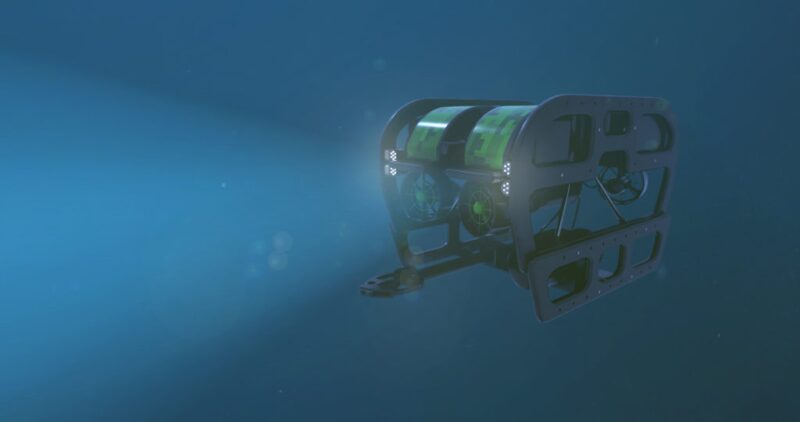 Underwater remotely operated vehicle