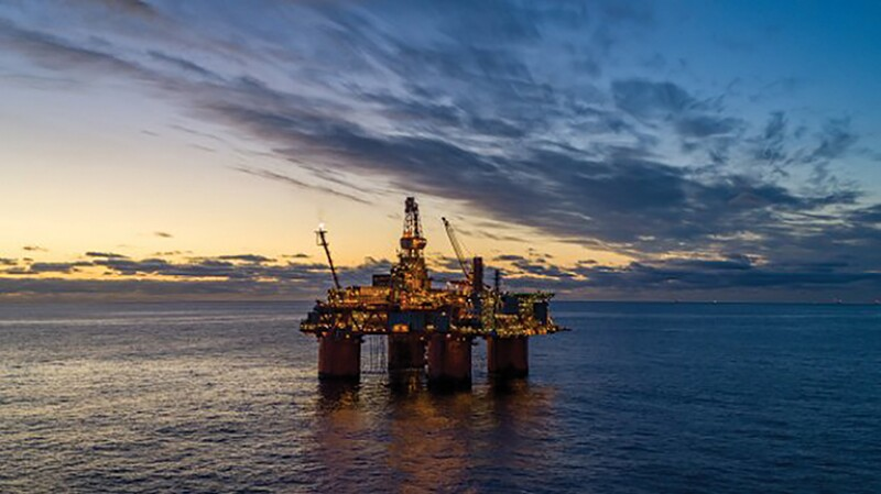 The Snorre A platform in the North Sea.
