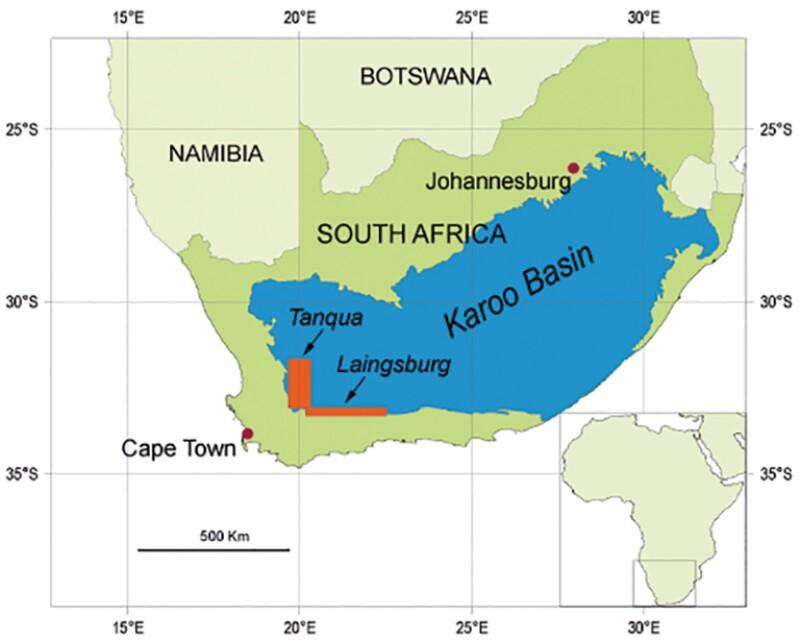 Map of Karoo Basin