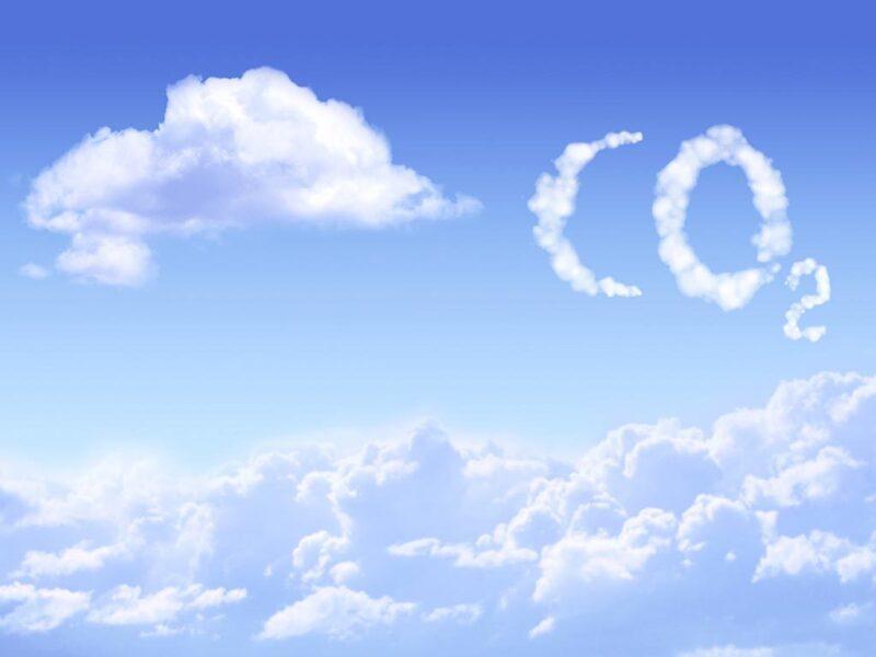 CO2 written in clouds