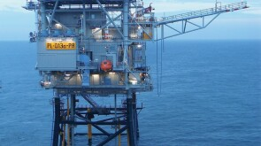Platform Q-13-a offshore in the Dutch North Sea