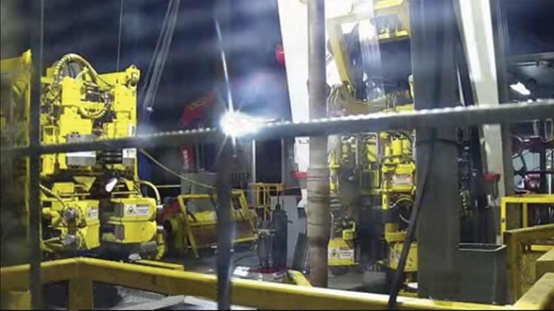Rig floor camera example view