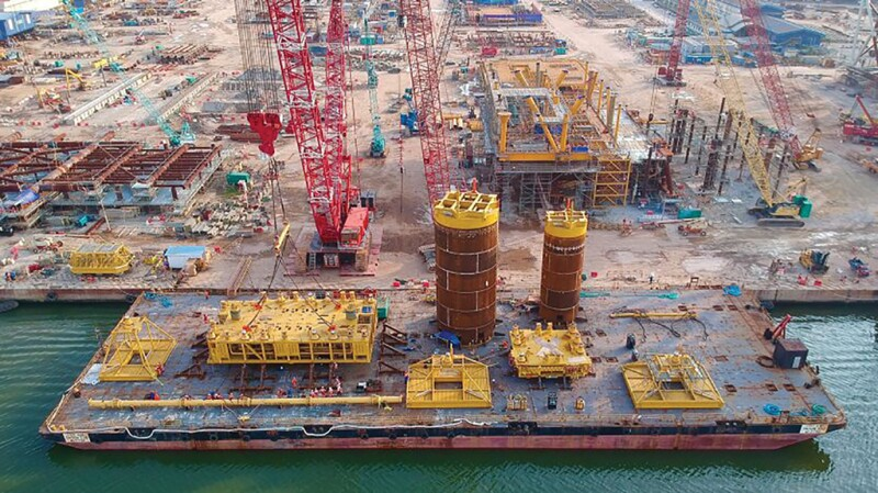 India subsea structures load out.