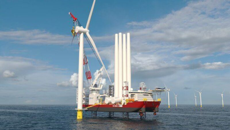 Dominion Energy offshore wind turbine installation