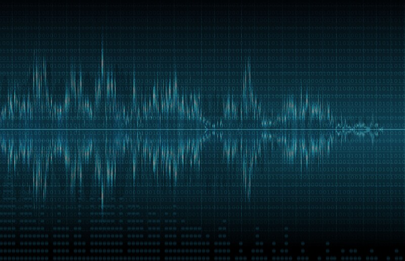 Audio Waves Vector Background