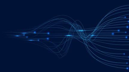 Neural networks design, AI concept, vector template