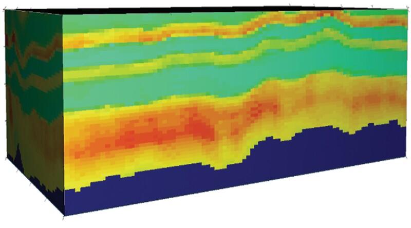 3D reservoir porosity model