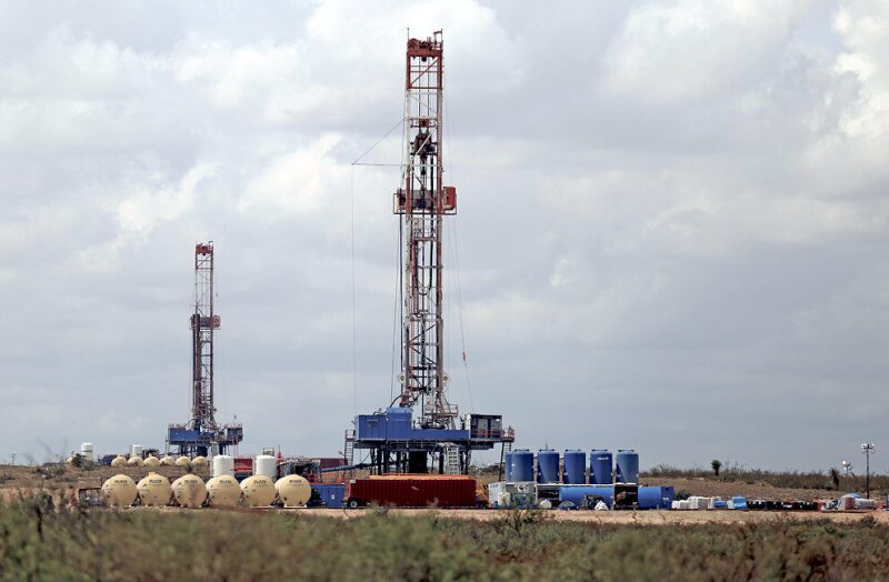 Two drilling rigs in New Mexico
