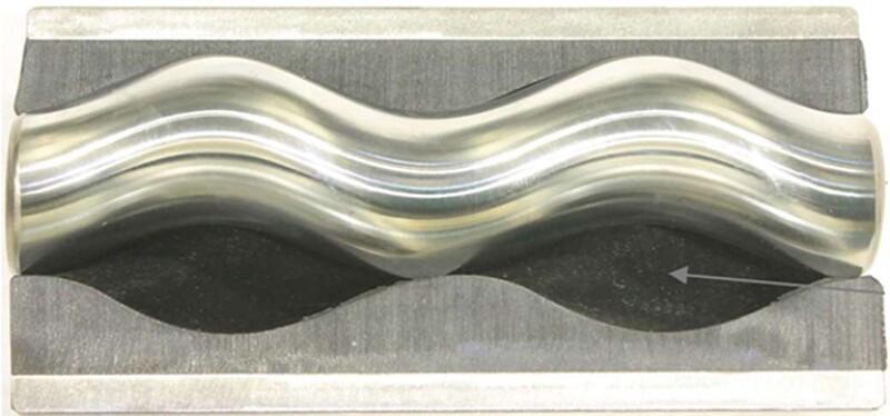 Artificial lift wavy pattern