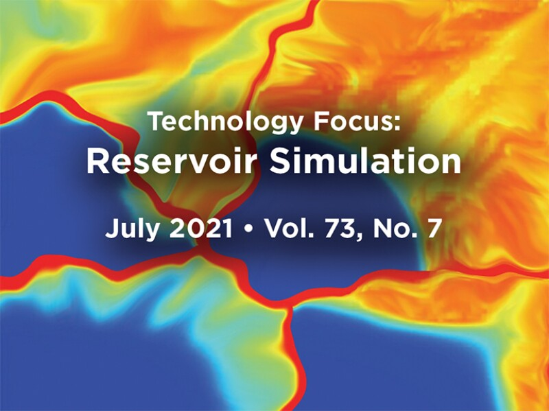 Reservoir Simulation intro with abstract background
