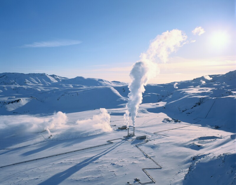 South Central Iceland, Nesjavellir geothermal power plant.