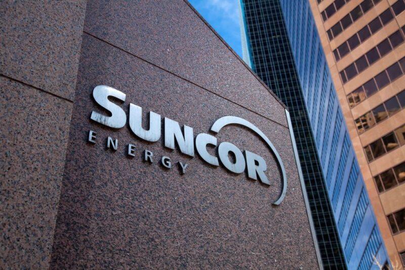 Suncor Energy logo on their building