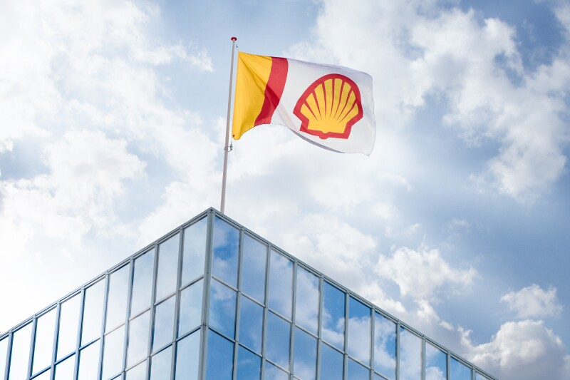 Shell logo on flag from 2016